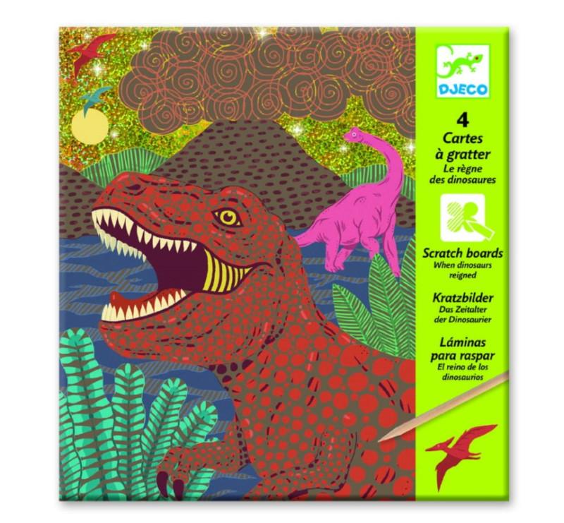 Dinozaury - Wydrapywanka - Djeco