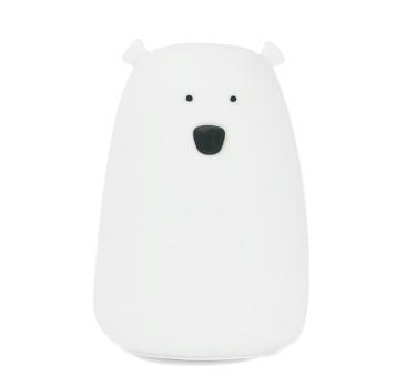 Biały Miś - Duża Lampka Silikonowa - Rabbit & Friends