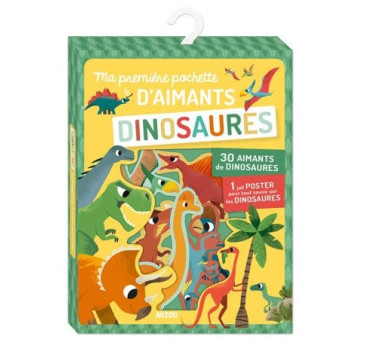 Dinozaury 4+ - Zestaw Magnesów 35 szt. - Auzou