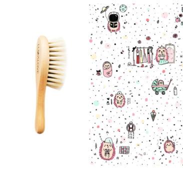 Jeże Pink - Szczotka Z Włosia Koziego I Bambusowa Myjka - LullaLove