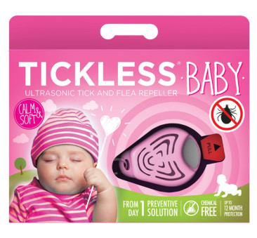 Baby Pink - Ultradźwiękowe Urządzenie Odstraszające Kleszcze - TickLess Baby - Tickless