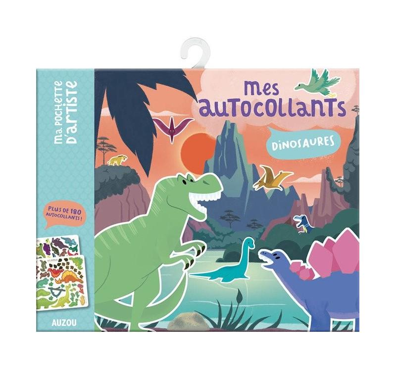 Dinozaury - Naklejki z Planszami 3+ - Auzou