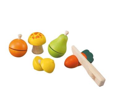 Drewniane warzywa i owoce do krojenia - Plan Toys