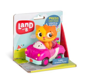 Miękkie autko sensoryczne - Wyścigówka z Kotkiem - Lolo & Smarty Pants - Land Of B