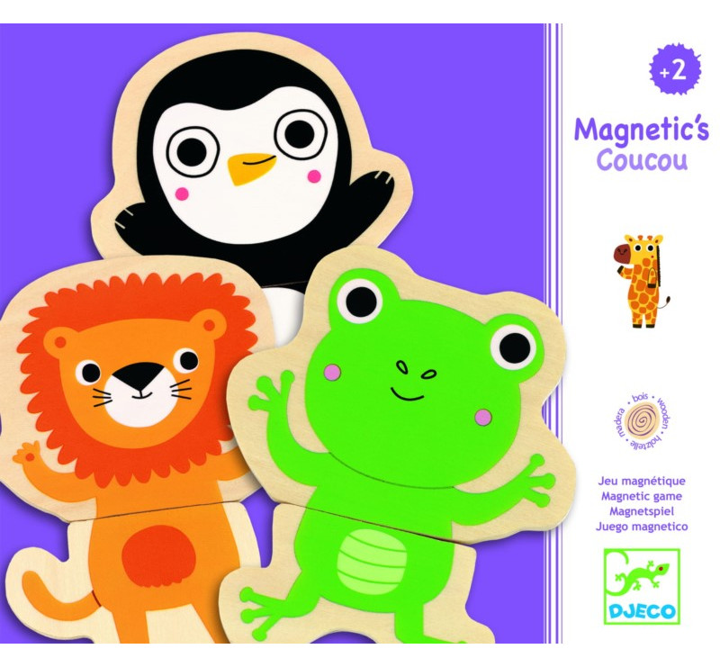 Dżunga - Drewnine Magnetyczne Puzzle 2 elementowe - Djeco