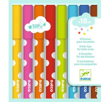 Flamastry Dla Maluchów 8 Kolorów - Djeco