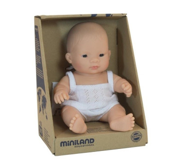 Azjata 21 cm - Lalka Chłopiec Azjata - Miniland Doll - Miniland