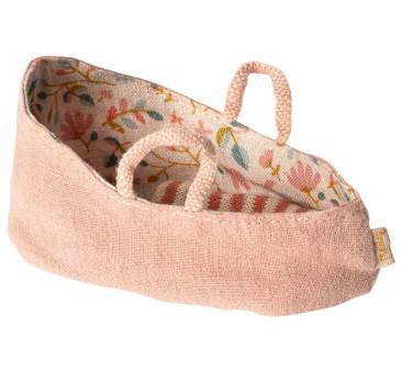 Różowe Nosidełko - Carry Cotton MY - Misty Rose - Akcesoria dla Lalek - Maileg