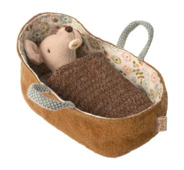 Myszka Niemowlę w Nosidełku - Baby Mouse In Carrycot - Maileg