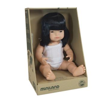 Azjatka 38 cm - Lalka Dziewczynka Azjatka - Miniland Doll - Miniland
