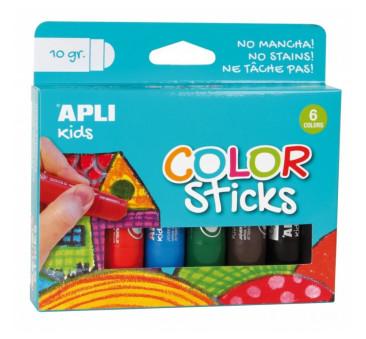 6 Kolorów Farby w Kredce - Apli Kids