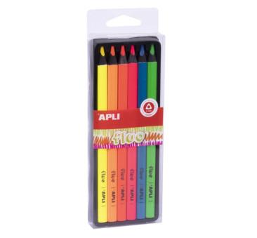 Fluo - Kredki Ołówkowe Jumbo - Apli Kids