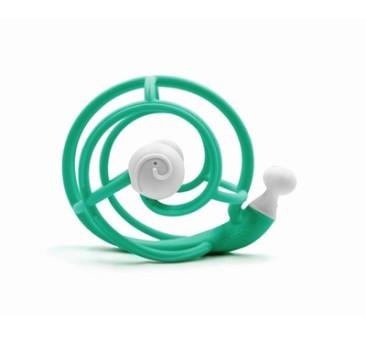 Green - Gryzak z Grzechotką Ślimak - Mombella