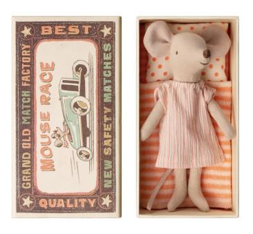 Myszka w Różowej Koszuli Nocnej - Big sister Mouse in box - Maileg