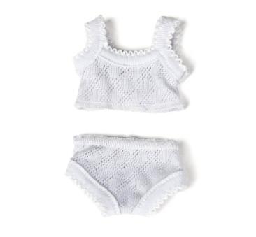 Biała Bielizna 38 - Ubranko Dla Lalek - Miniland Baby - Miniland