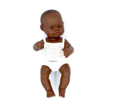 Afrykanka 32 - Lalka Dziewczynka Afrykanka 32 cm + Ubranko Miniland Baby - Miniland Doll - Miniland