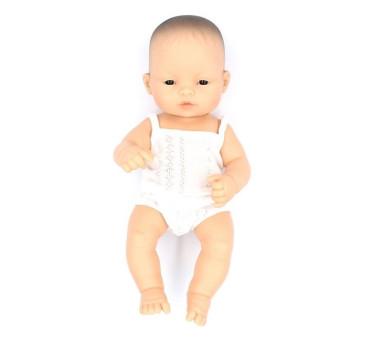 Azjata 32 - Lalka Chłopiec Azjata 32 cm + Ubranko Miniland Baby - Miniland Doll - Miniland