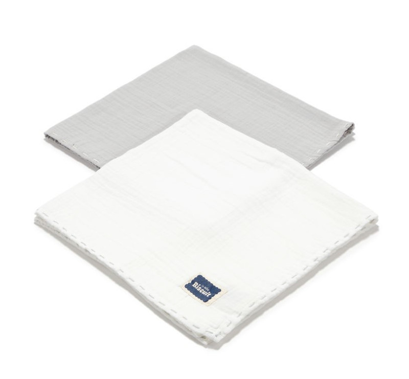 Stone & Off White - Pieluszka 100 % Cotton Muślin - 2 pack - Biscuit Collection - La Millou