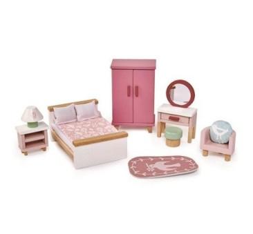 Sypialnia - Drewniane Meble Do Domku Dla Lalek - Tender Leaf Toys