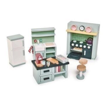 Kuchnia - Drewniane Meble Do Domku Dla Lalek - Tender Leaf Toys