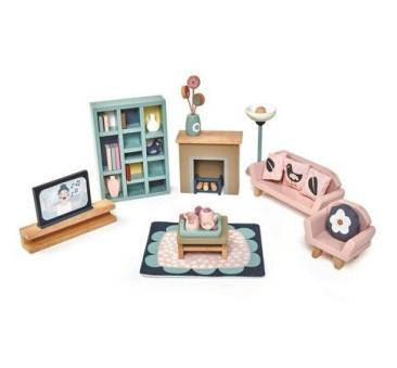 Salon - Drewniane Meble Do Domku Dla Lalek - Tender Leaf Toys