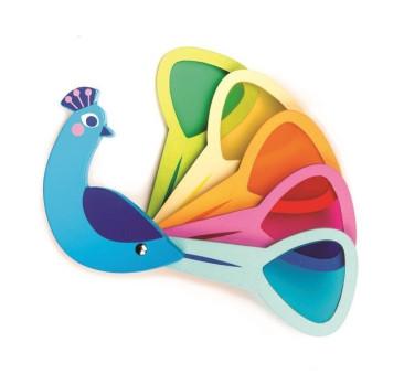 Paw z Kolorowymi Szybkami - Drewniana Zabawka Poznajemy Kolory - Tender Leaf Toys