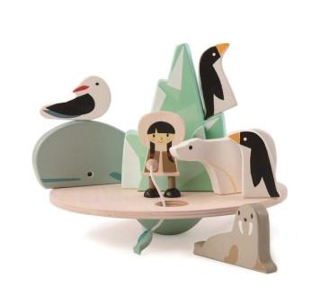 Balansujący Biegun Polarny - Drewniana Gra Zręcznościowa - Tender Leaf Toys