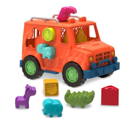 Ciężarówka Safari z Sorterem - Safari Shape Sorter Truck - Wonder Wheels