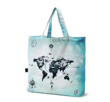 Shopper Bag - World Orchestra - True Turquoise Vintage Map - Torba na zakupy - La Millou