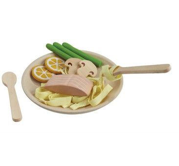 Spaghetti z Łososiem - Pasta Spagetti - Plan Toys - Montessori