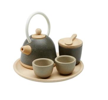 Zestaw Do Herbaty z Orientalnym Czajniczkiem - Plan Toys - Montessori