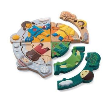 Układanka Ubranka Na Każdą Porę Roku - Plan Toys - Montessori