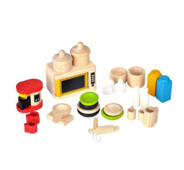 Dodatki i Naczynia Do Kuchni - Drewniane Mebelki - Plan Toys - Montessori