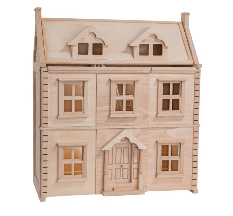 Drewniany Domek Wiktoriański Dla Lalek - Plan Toys - Montessori