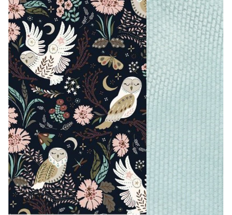 Baby Nest - Gniazdko - Magic Owl & Smoke Mint - La Millou - Velvet Collection