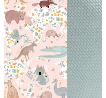 Baby Nest - Gniazdko - Dundee & Friends Pink - Smoke Mint - La Millou - Velvet Collection