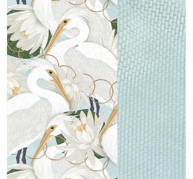Angel's Wings - Heron In Cream Lotus - Velvet Smoke Mint - Organic Jersey Collection - La Millou - poduszka stabilizacyjna