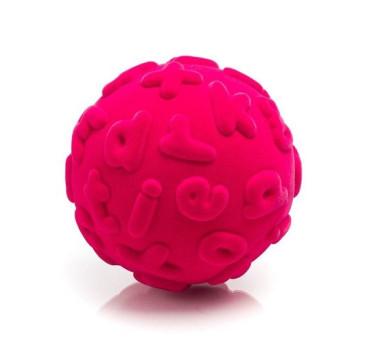 Sensoryczna Piłka Małe Litery - Różowa - Rubbabu