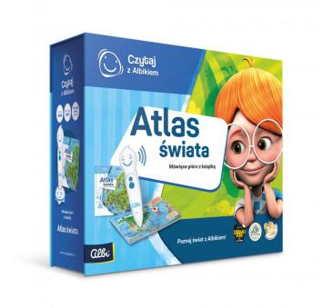 Zestaw Atlas Świata - Mówiące Pióro z Książką - Czytaj z Albikiem - Albik
