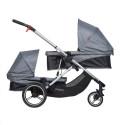 Voyager - wózek podwójny rok po roku Phil&Teds - dodatkowe siedzisko / gondola - 2 w 1 - spacerówka - gondola - bliźniaczy