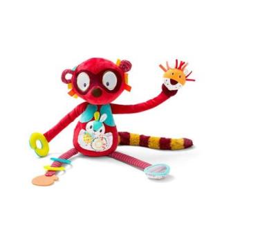 Lemur George - Przytulanka Aktywizująca Wielofunkcyjna 3m+ - Lilliputiens