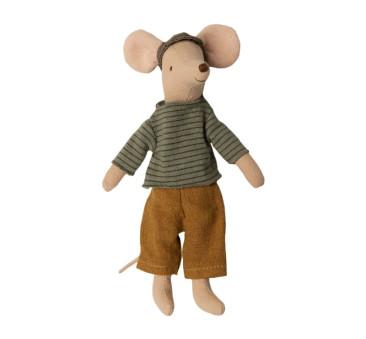 Myszka Tata w Zielone Paski - Dad Mouse - Maileg
