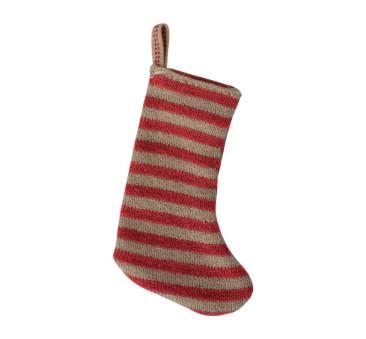 Czerwona Świąteczna Skarpeta - Dekoracja Bożonarodzeniowa - Christmas Stocking Red/Sand- Maileg
