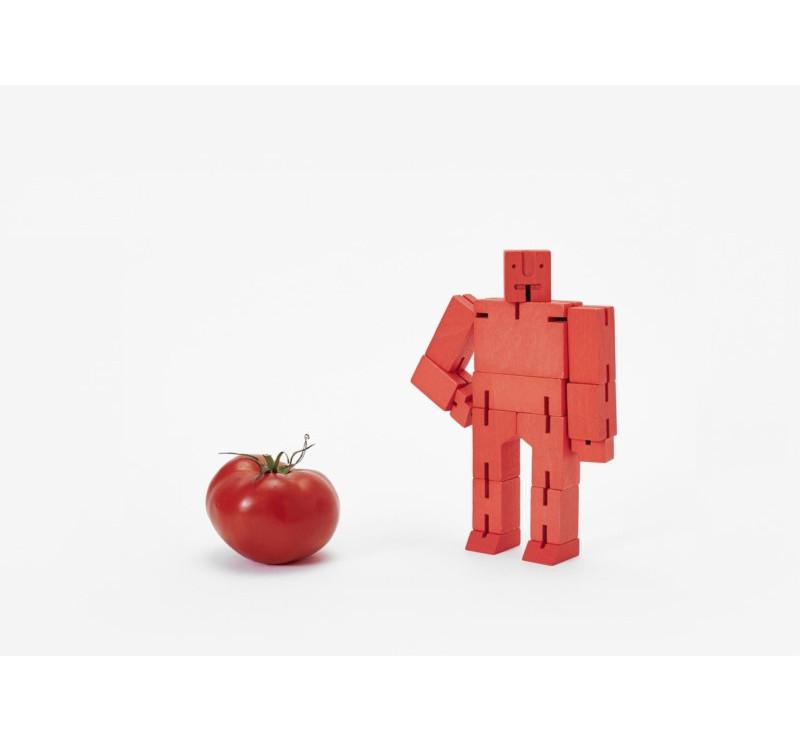 Micro Red - Drewniane Klocki CUBEBOT