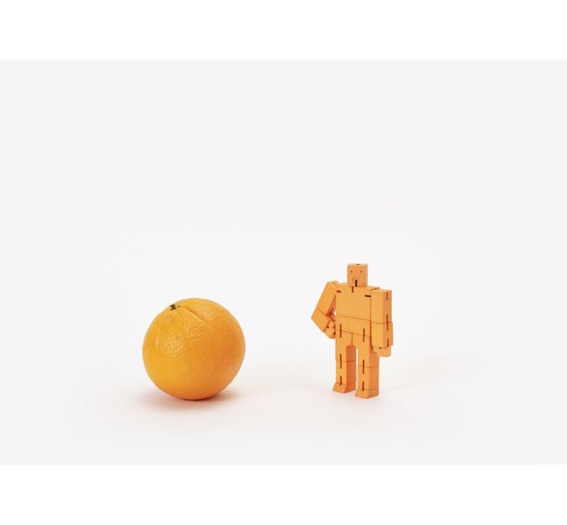 Micro Orange - Drewniane Klocki CUBEBOT