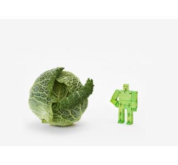 Micro Green - Drewniane Klocki Roboty - CUBEBOT