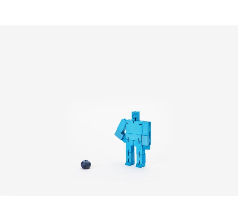 Micro Blue - Drewniane Klocki CUBEBOT