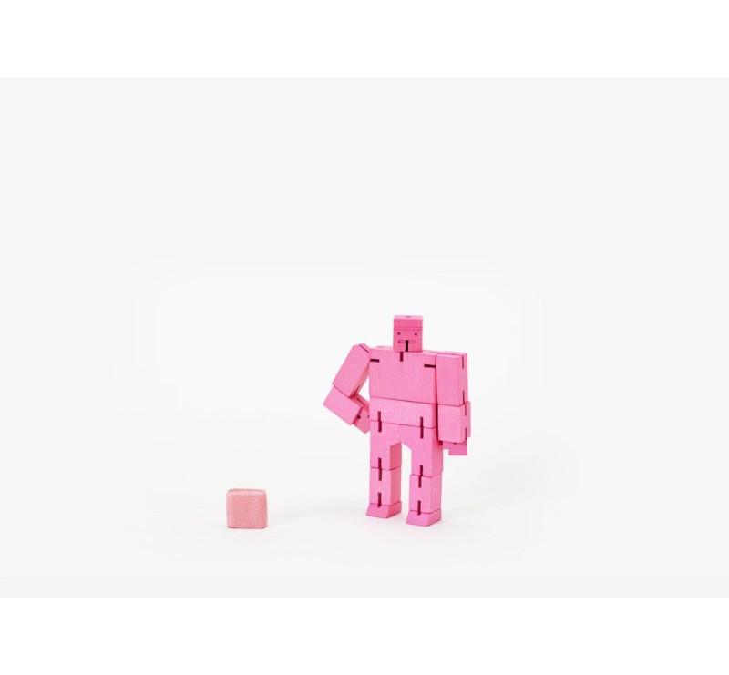 Micro Pink - Drewniane Klocki CUBEBOT