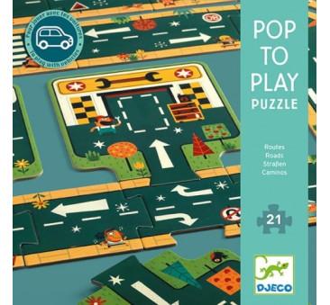 DROGI - Puzzle Kartonowe - Djeco