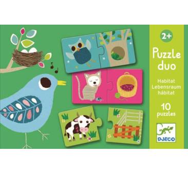 ZWIERZĄTKA - Puzzle Duo - Djeco